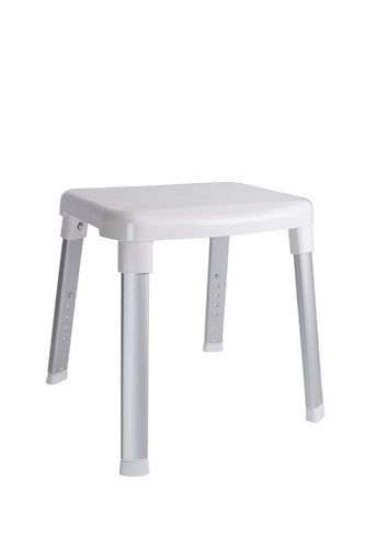 Adjustable Shower Seat - White